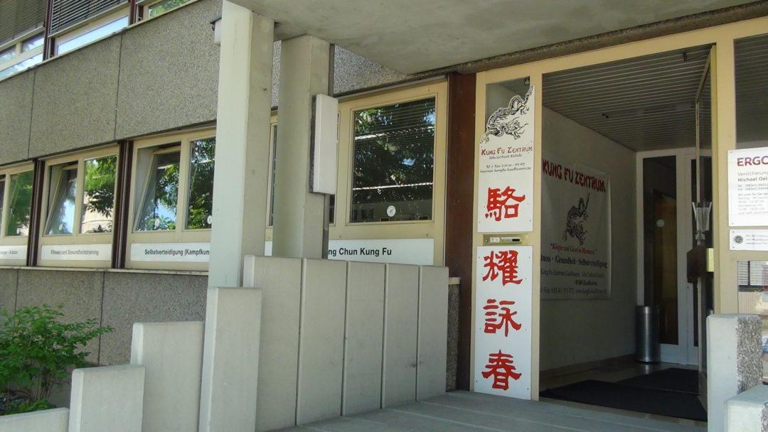 Eingang zum Kung Fu Zentrum Kaufbeuren